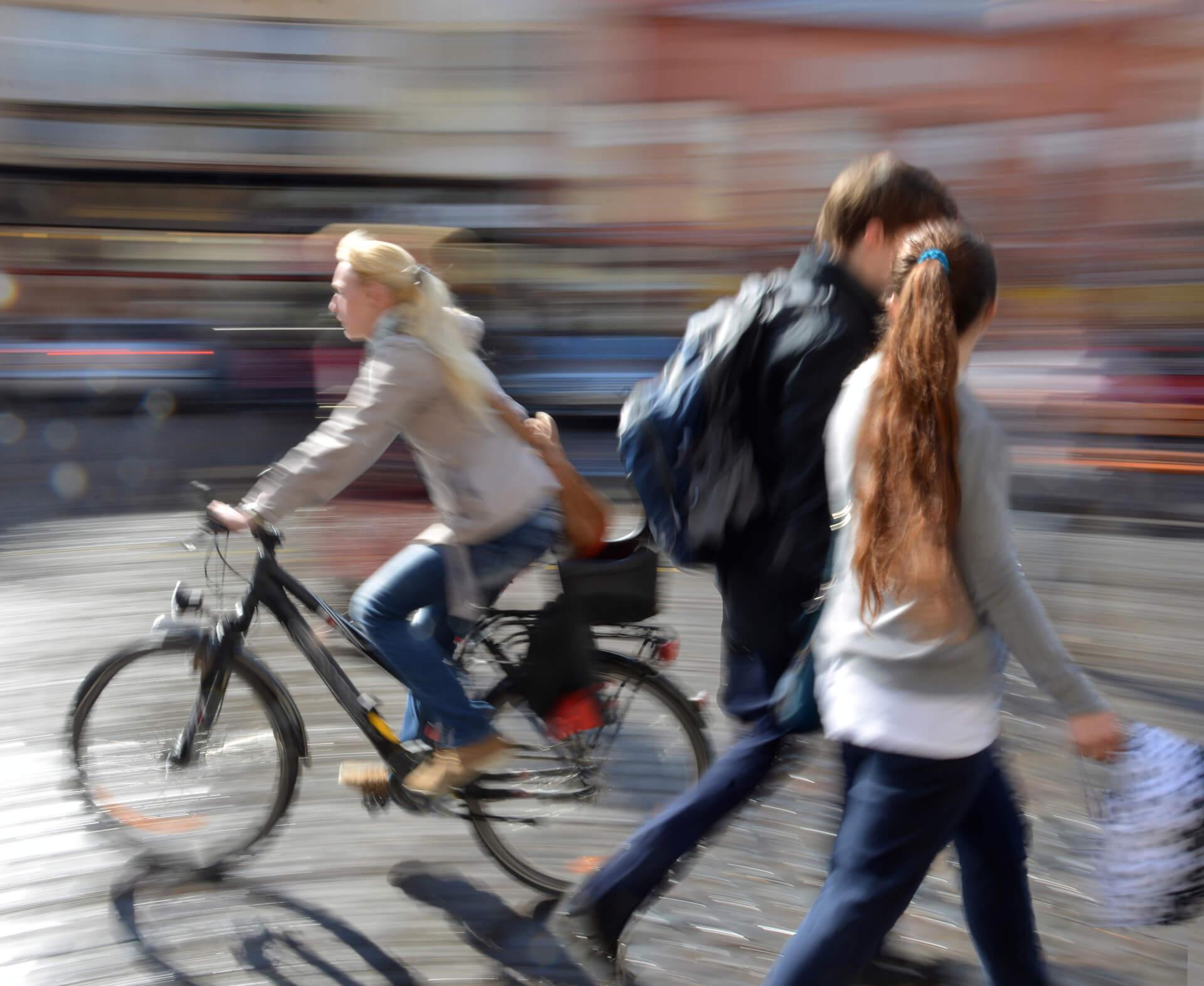 Påkjørt av syklist på gangvei eller sykkelsti